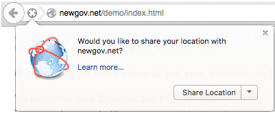Firefox share location.
